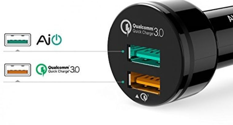 Aukey CC-T7 Quick Charge 3.0 Dual-Port Car Charger