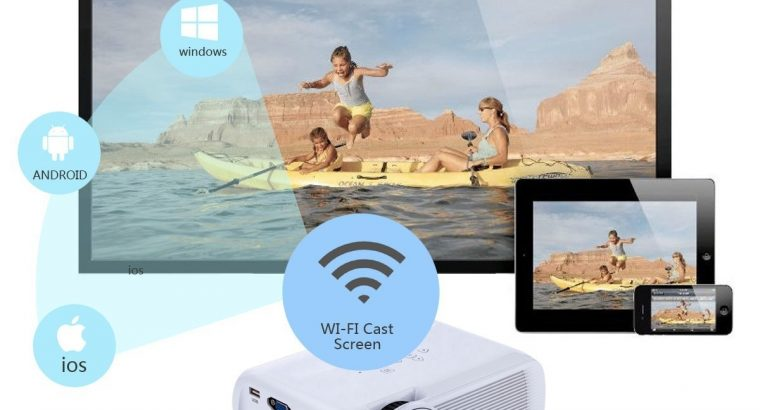 U80 Plus 7000lm HD 1080P Home Theater Projector Android 6.0 BT WiFi