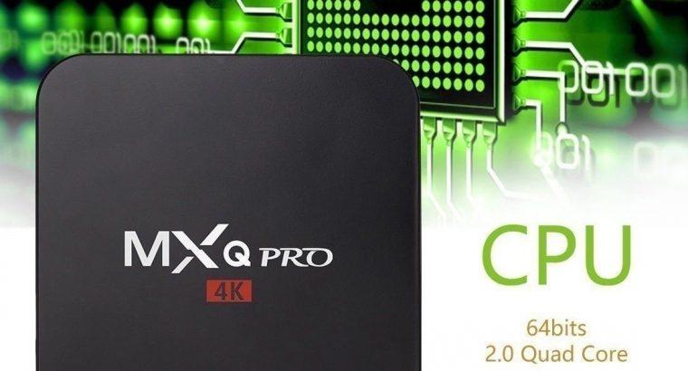 Andorid 7.1 MXQ Pro Smart TV BOX Amlogic S905X Quad Core 4K 1080P 2G/16G KODI +Free Backlit keyboard