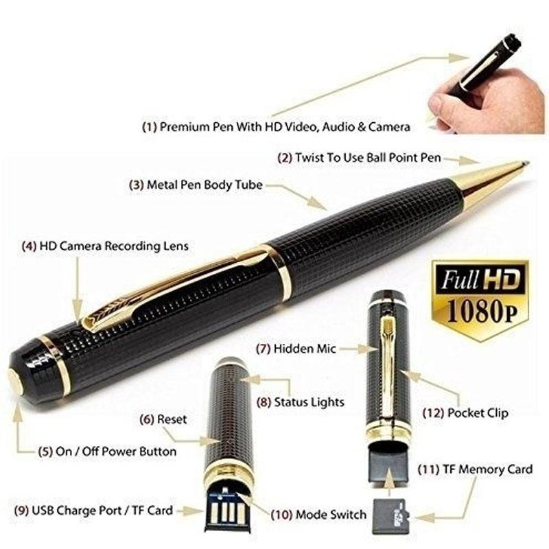 Mini DV HD 1080P Hidden Spy Camera Pen USB Camcorder DIY Video Recorder Cam DVR
