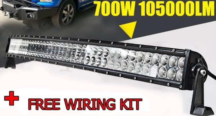52″ 700W CURVED LED LIGHT BAR COMBO Beam OFF-ROAD DRIVING Lights for 4WD SUV + FREE WIRING KIT