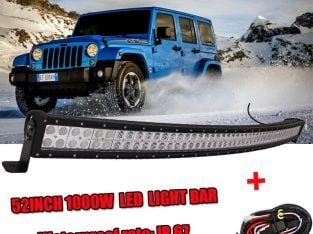 52INCH 1000W Curved Led Work Light Bar Spot Flood 4Wd SUV Boat Offroad For Jeep with Free Wiring