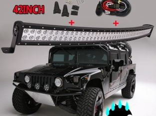 400W Combo Beam 42INCH Curved LED Light Bar for Off-road, 4WD Truck SUV +Free Wiring