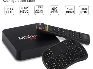 MXQ PRO Android Smart TV Box 1+8G S905X 4K Media  WIFI Mini PC 3D + Free Mini Keyboard(Plug: US UK EU AUS)