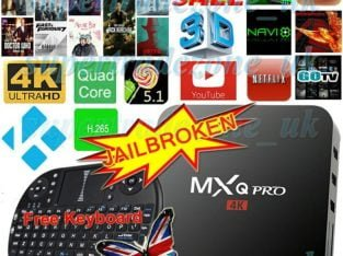 MXQ PRO S905 4K Quad Core Android TV Box KODI Fully Loaded Media Player Free Keyboard