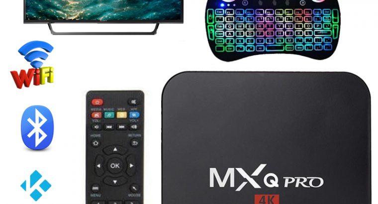 Andorid 7.1 MXQ Pro Smart TV BOX Amlogic S905X Quad Core 4K 1080P 2G/16G KODI +Free Keyboard