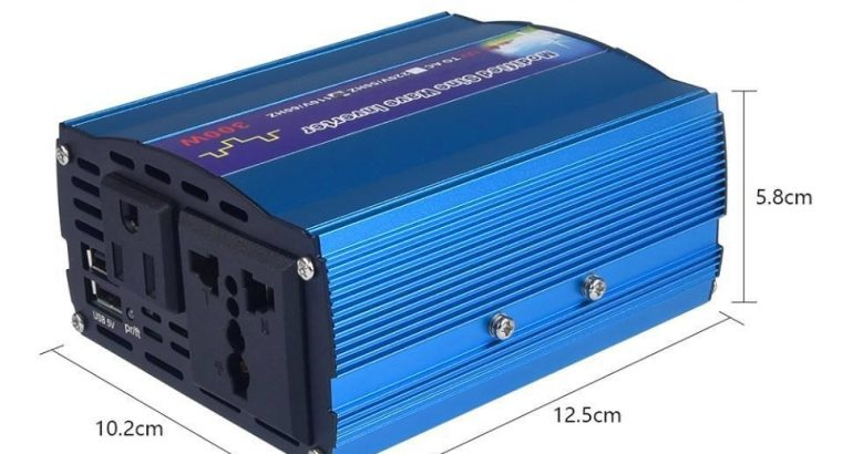 300W Portable Power Inverter for Car DC 12V to AC 220V, with Dual USB Ports