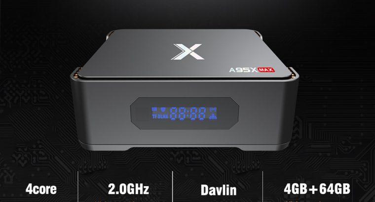 A95X MAX Android Smart TV Box S905X2 Quad Core WIFI Bluetooth