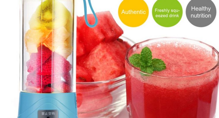 Plastic Portable USB Rechargeable Juicer Cup