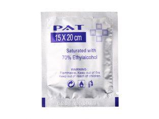 70% alcohol large size 15*20cm pads