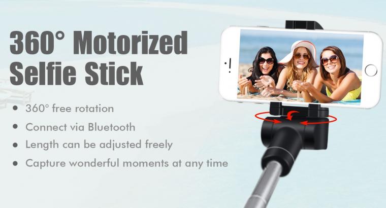 360℃ rotation bluetooth motorized selfie stick