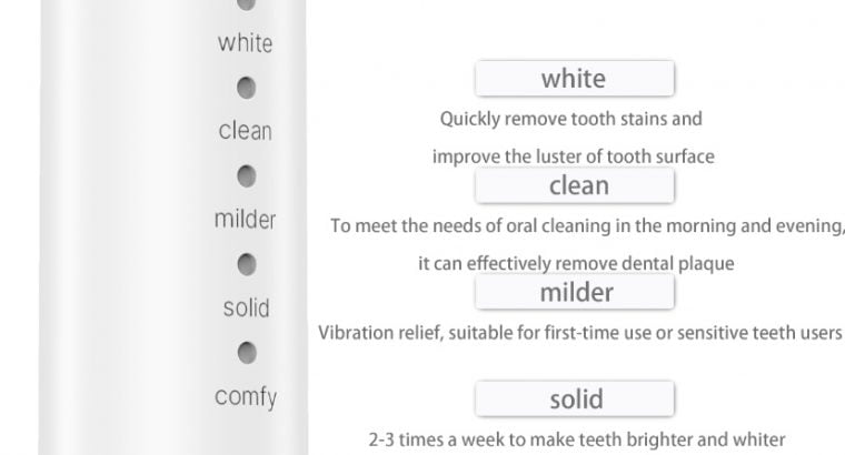 Electric USB Rechargeable Toothbrush with Timer