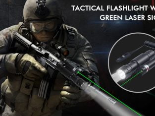 Tactical Flashlight with Green Laser Sight 600 Lum